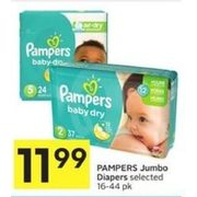 Pampers Jumbo Diapers - $11.99