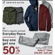 Denver Hayes All Men's Regular-Priced Everyday Fleece - BOGO 50% off