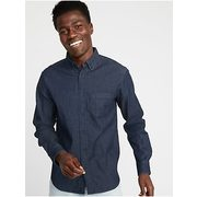 Regular-fit Built-in Flex Chambray Everyday Shirt For Men - $32.00 ($7.99 Off)