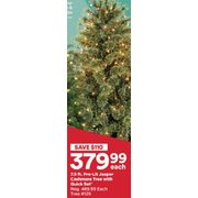 7.5 Ft. Pre-Lit Jasper Cashmere Tree With Quick Set - $379.99 ($110.00 off)
