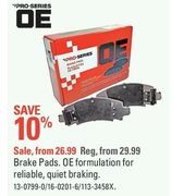 Pro-Series OE Brake Pads - From $26.99 (10% off)