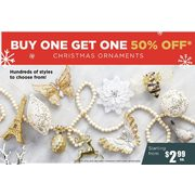 Assorted Christmas Ornaments - Starting from $2.99 (BOGO 50% off)