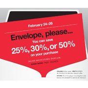 Banana Republic Envelope Please Sale: Save 25%, 30% or 50% on Your Purchase (Online and In-Store)